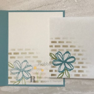 Look at how I used a stencil for this greeting card making idea!