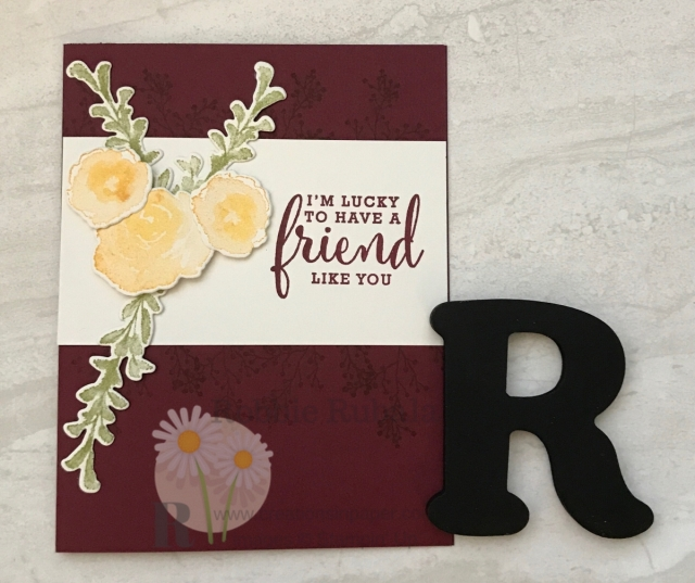 You have got to see how I used a simple card design for this pretty Stampin' Up First Frost Friend card.