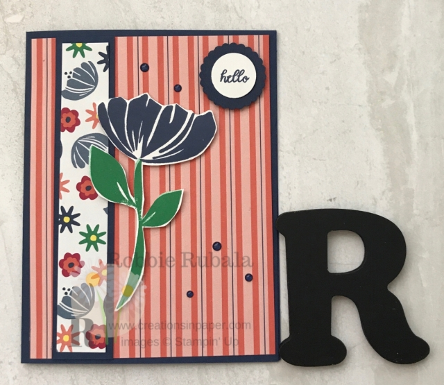 Here is a quick and easy paper flower crafts idea. The Happiness Blooms stamp set makes great hand stamped cards.