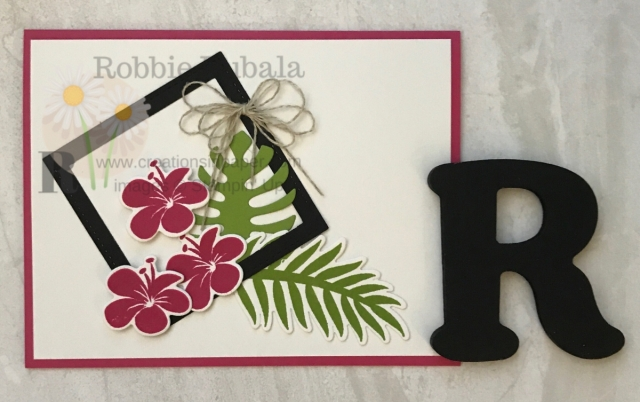 Look at this clean and simple framed idea using the Tropicla Chic bundle!