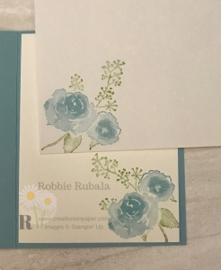 Click on the photo to see the video showing how to make handmade greeting cards like this adorable First Frost in Balmy Blue idea.