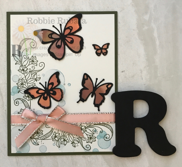Check out how I used the Stampin' Up paper from Sale-a-bration to make my butterflies shine!