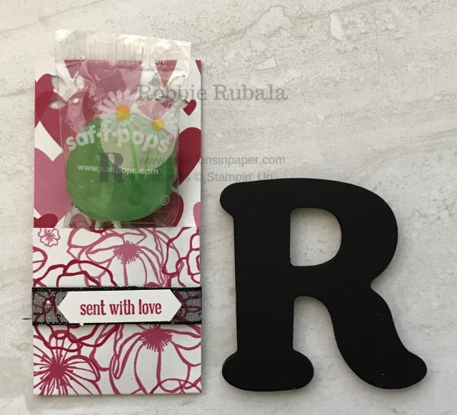 Check out this quick and easy Valentine treat idea using designer series paper.