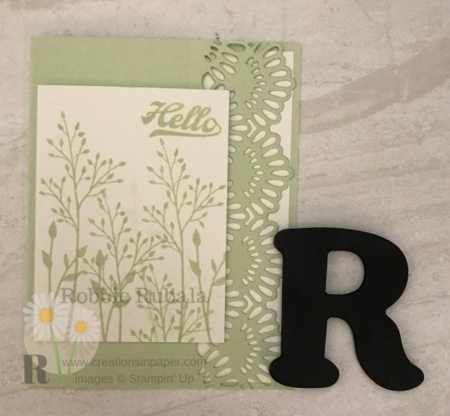 Have you tried die cut cards? Here is an idea for a pretty On the Edge Die Cutting card.