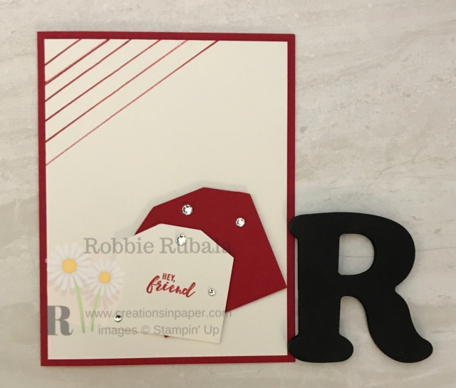 Check out this monochromatic handmade greeting card idea!