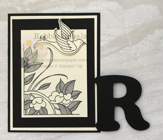 Monochromatic handmade card ideas are a great way to make a quick card. Learn more about this card on my blog.