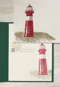 Stampin' Up designer series paper is designed to go with many different sets. Check out this idea where the High Tide set was used with Tranquil Textures dsp.