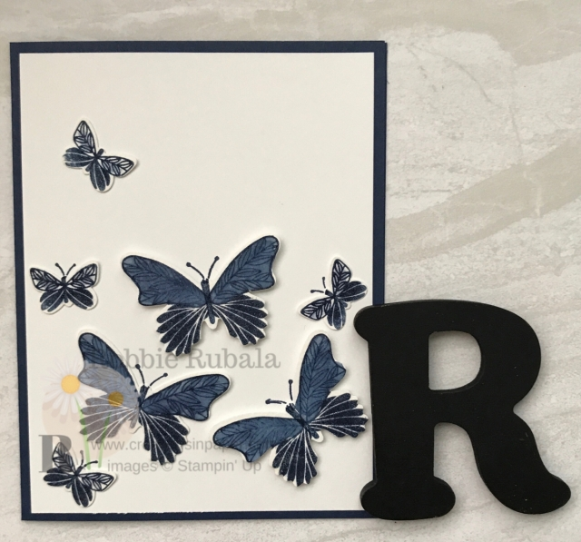 Click through to see a gorgeous clean and simple butterfly gala bundle card.