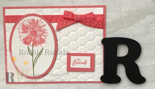 Isn't this Touches of Texture with Hexagons embossing folder the perfect All Occasion card? So easy to create also.