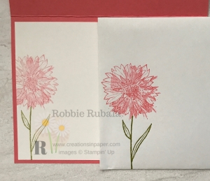If you think my Touches of Texture with Hexagons embossing folder envelope is pretty, make sure you check out my card front.