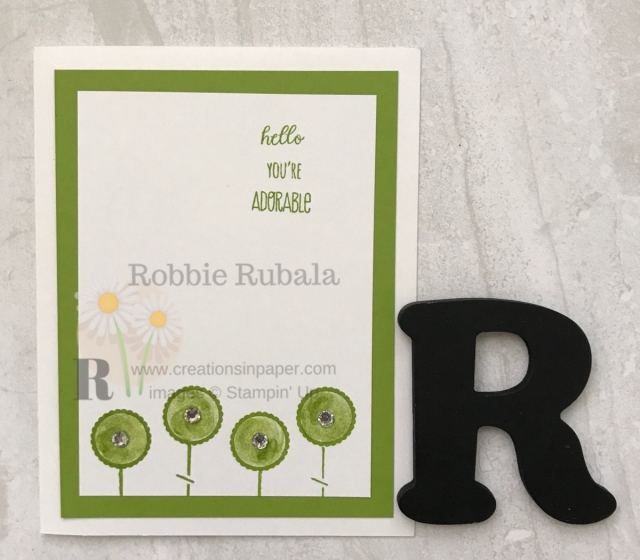 Do you like retro flowers? Check out my Hand Stamped Flowers from Stampin' Up by clicking through.