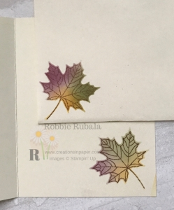 Look at this gorgeous leaf on the inside of my card and envelope! Click the photo to see my Ink Blending Technique.