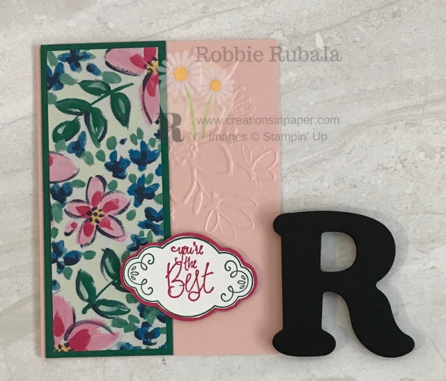 Using various products can be a challenge to get them to work together. Click through to learn what embossing folder and designer series paper I used to create my Homemade Feminine Embossed Card.