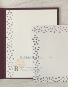 Want to know how I used these dots to create a fun background? Click the photo to see the Dots and Flowers Handmade Card idea.