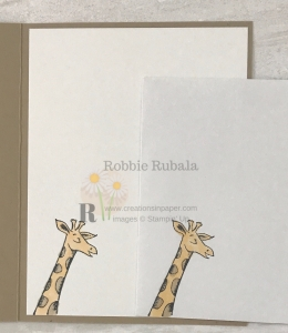 Isn't this giraffe cute? Make sure you click the photo to see what the front of this Card Making Idea for Kids creation looks like!