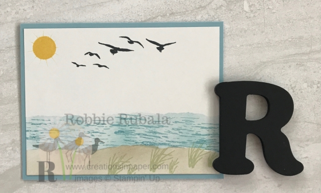 Do you like the seashore? To find out how I created this Stampin' Up High Tide Seashore scene click through.