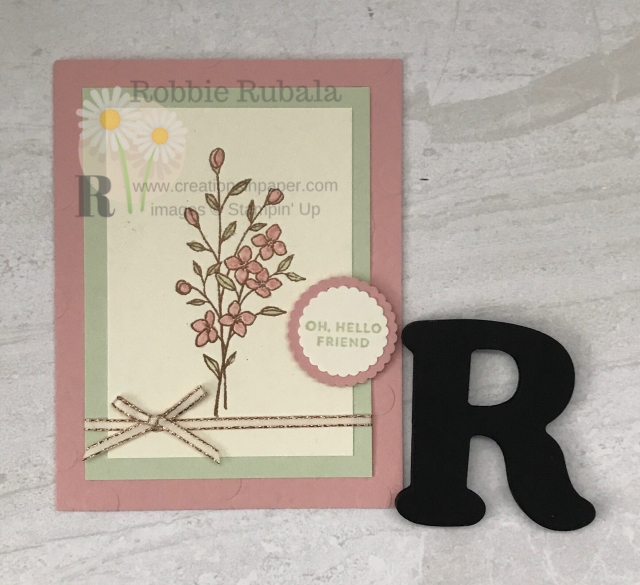 Feminine cards are perfect to send to a special friend. Here is a Copper Embossing for Pretty Flowers creation that any lady would love to receive.