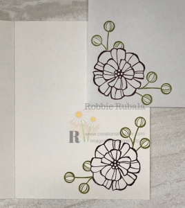 These images match the laser cut paper on the card front. Click through to see the Coloring Detailed Paper creation.