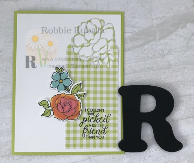 Want to know how I colored the flowers on this card? Click through to get the details for my Stampin' Up Tea Together Friend creation.