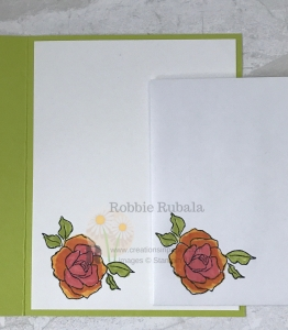 These roses were used to create my Stampin' Up Tea Together Friend card. Click through to check out the front of the card.