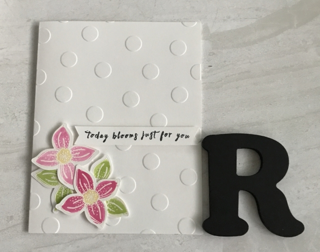 Check out this beautiful clean and simple card. Find all the details for the Simple Embossed Handmade Card by clicking the photo.