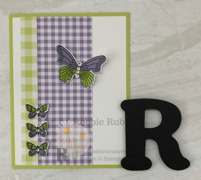 Gingham paper is so cute and fun to play with. Check out the 2 colors I used on my Gingham butterflies creation.