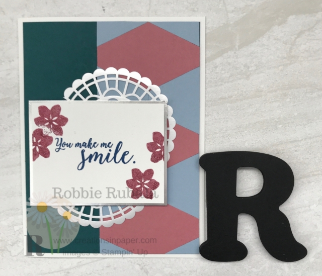 Here is a different idea for you. The Tailored Tag Punch Makes a Fun Border for this card. See the video by clicking the photo.