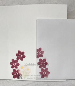 These flowers are the perfect addition for my Tailored Tag Punch Makes a Fun Border card. Check it out.