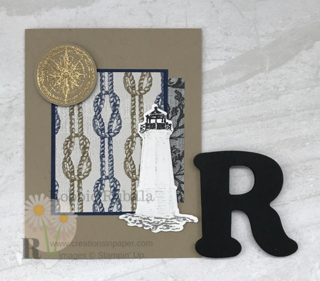 Check out this masculine card! So easy to make. click the photo to see the video showing how I made my Another Sailing Home Idea.