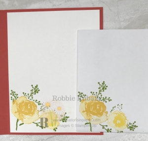 These flowers are so pretty. They made the perfect Angled Front Handmade Card. Click the photo to see the completed card.