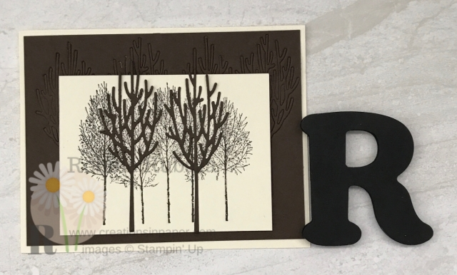 A great monochromatic card that was easy to do. Check out my Monochromatic Winter Woods creation. Click the photo.