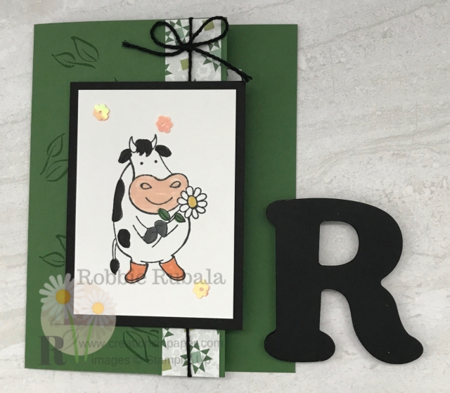 These cows are adorable! I used one of them to create my Over the Moon Fancy Front card. Click the photo for the video with all the details.