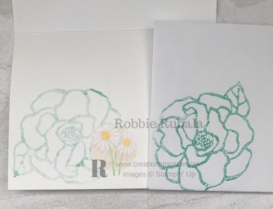 This beautiful image is perfect for glycerin coloring. See my Monochromatic Handmade Beautiful Day Card by clicking.