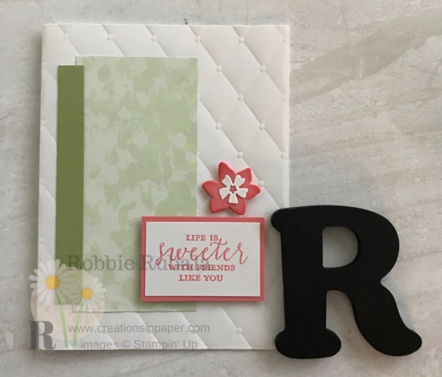 Check out this clean and simple embossed card idea. So easy to do with any supplies you have. Find out how by clicking through.