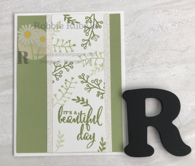 Check out this great masculine card. It is made with a stamp set you would not associate with masculine cards. Click through to see the video for the One Color Wonder ~ Love What You Do creation.