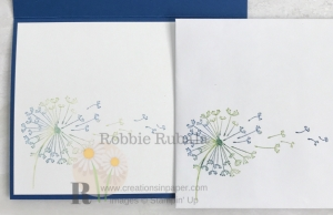Love the colors used on this image? Check out the card front by clicking the picture to see the Watercolored Dandelion Wishes Catty C.A.S.E.