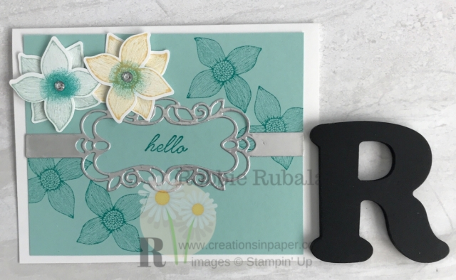 Such a pretty card and the band die makes it. To see the video showing how I made this Pop of Petals with Detailed Bands Dies creation click throug.