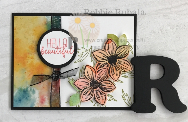 Punches are a great way to use images to create layered flowers. Here is an idea for the Floral Essence bundle by Stampin' Up.