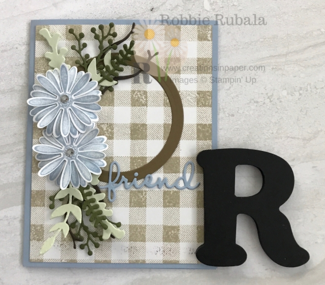 This beautiful Daisy Lane Friend card uses a variety of dies to create the spray. Click the photo to see which dies and colors were used.