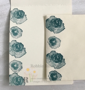 These roses were used for the Embossing Folder Technique on the front of the card. Get the details on how to do it by clicking through.