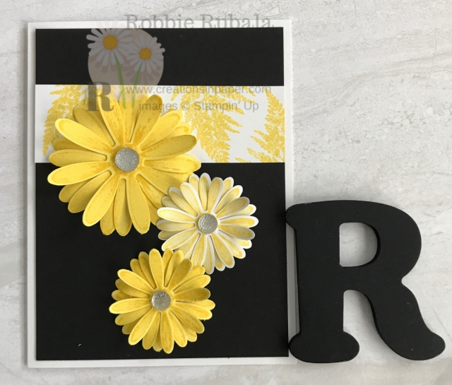 Aren't these daisies so pretty? They almost look real. Click the photo to see the video showing how I created my Monochromatic Daisy Lane creation.
