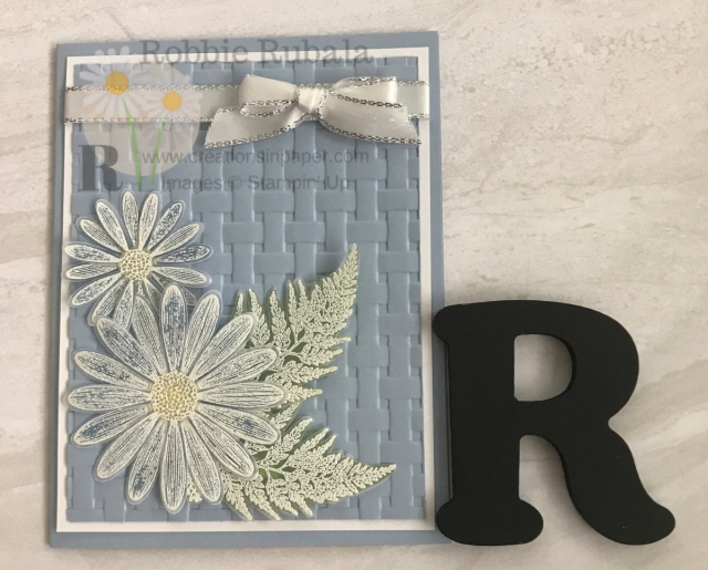 A pretty blue and daisies are the makings of a great card. You have got to get the details for my Seaside Spray for Daisy Lane creation by clicking through.