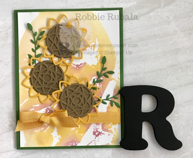 Fall is just around the corner and nothing says Fall like sunflowers. The annual catalog inspired my Stampin' Up Botanical Tags Sunflowers. Click the photo to get the details.
