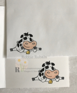 This cow is adorable. He makes great cards. Click through to see the video showing the card front for my Quick and Easy Over the Moon creation.