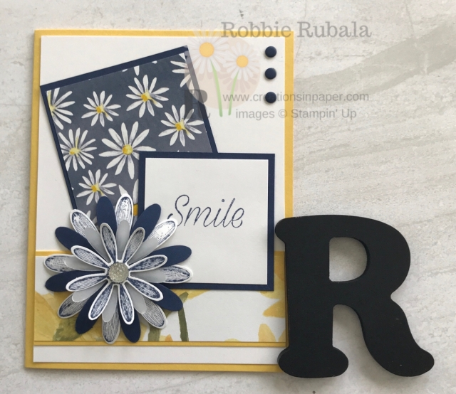 Do you have retired product you need to use but are drawn to the new products? My #ShopYourStash ~ Daisy idea uses retired designer series paper with a new stamp set. Get the details by clicking my photo.
