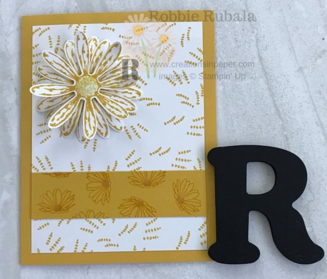 If you have limited supplies but want to create a great card, check out my One Color Wonder series. Here is a Daisy Delight In One Color ~ Quick and Easy idea. Click the photo to get the details.