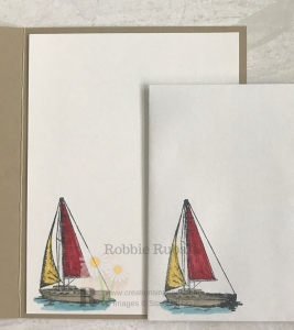 Wondering what retired set I paired with this sailboat for my card? Click through to get the details for my #ShopYourCraftStash ~ Bunch of Blossoms creation.