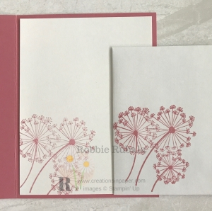This dandelion image makes a great sparkly card. Click the photo to get the details of my Stampin' Up Dandelion Hello creation.