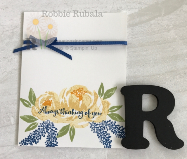 Adding the ribbon on this Beautiful Friendship Thinking of You creation is supper easy using a punch. Find out all the details by clicking the picture.