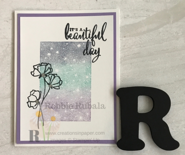 A great focal image can make the card. Check out my Bokeh Dots Beautiful Day for a clean and simple idea. Click the picture.